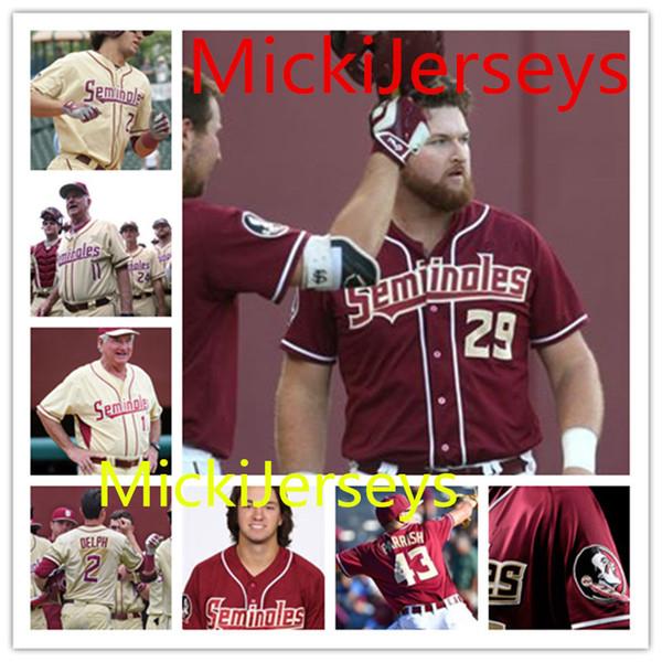 new styles ecb34 82664 2019 Custom NCAA Florida State Seminoles Baseball Jersey Buster Posey Deion  Sanders Dick Howser Drew Mendoza Drew Parrish FSU Seminoles Jersey From ...