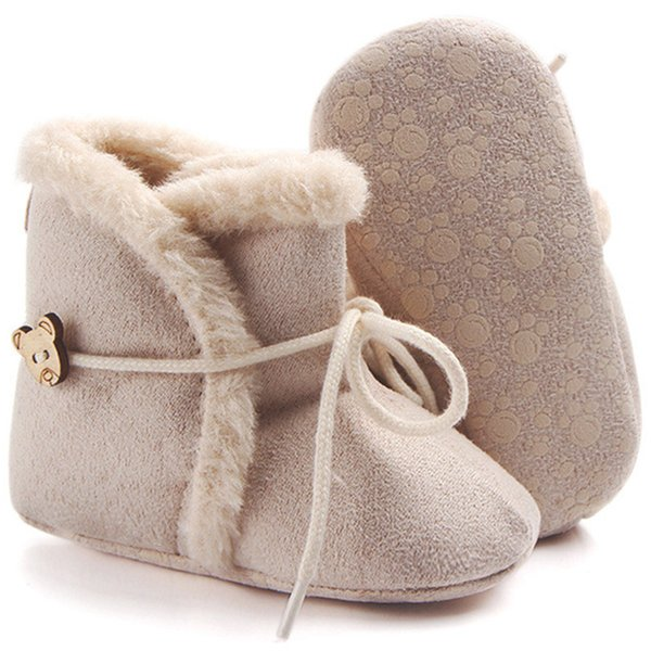 0-18M Newborn Lace-Up Warm Baby Boots Baby Girl Non-slip Todller Crib Shoes Infant First Walkers Zapatos Sapatos De Menino
