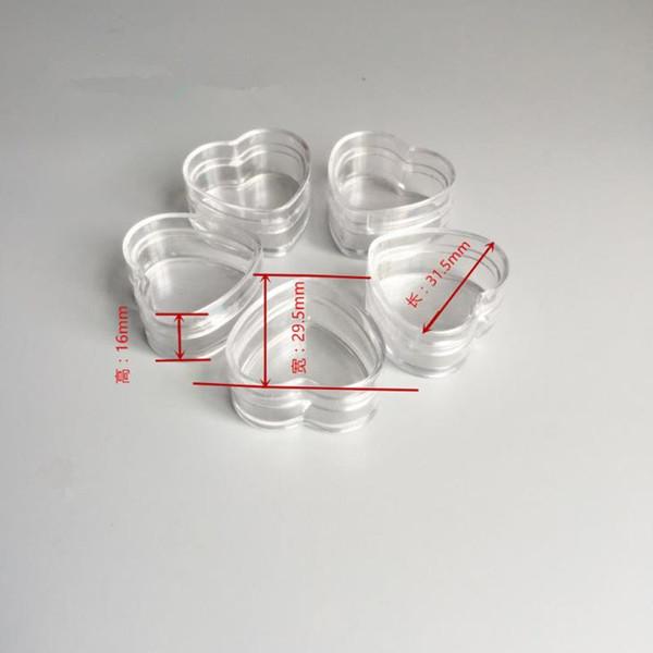 4g 5 г прозрачный пластиковый крем банку небольшой 4cc 5cc PS контейнеры с крышкой пустой сердце сливы форма косметическая коробка F635