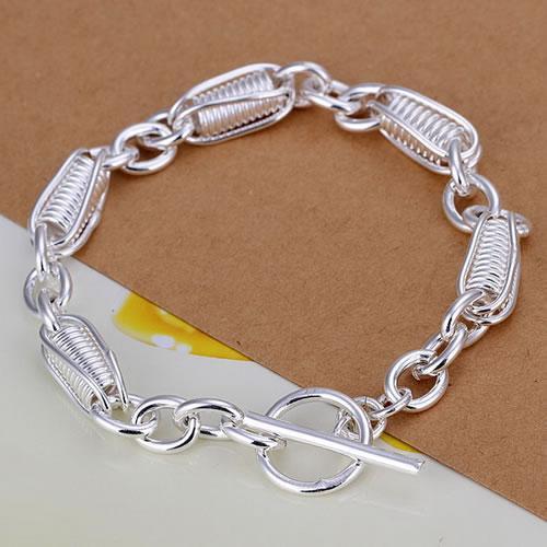 Fine 925 Sterling Silver Bracelet for Women Men,Fashion 925 Silver Charm Chain 8inch Bracelet Italy 2018 New Arrival Xmas Best Gfit AH272