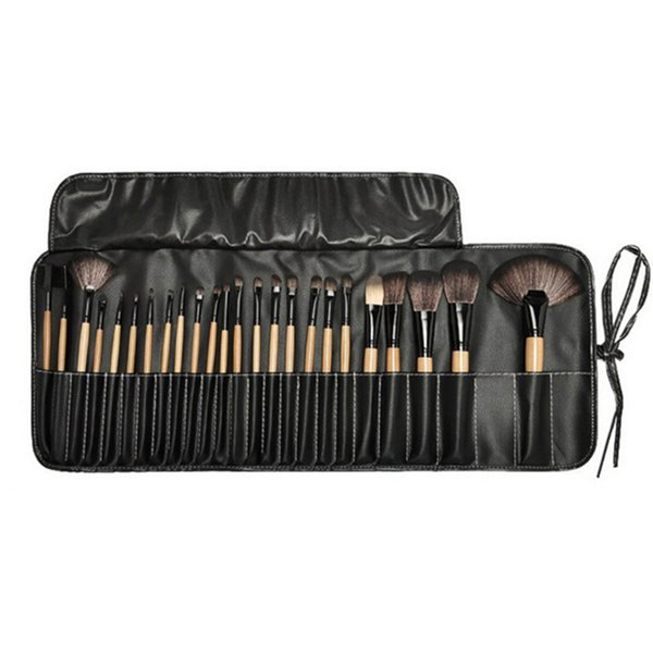 High quality Professional Makeup Brushes Set 24pcs Portable Full Cosmetic Make up Brushes Tool Foundation Eyeshadow Lip brush with Bag