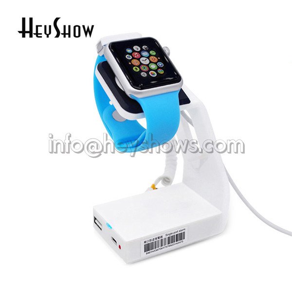 Watch security stand Iwatch display alarm apple watch burglar alarm anti theft holder for watch retail store loss prevention