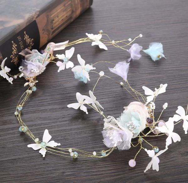 Festival coreano de mariposas con vestidos de novia, accesorios, aros de perlas, guirnaldas, novias, accesorios