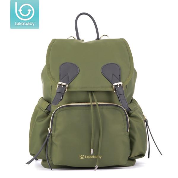Lekebaby Fashion Diaper Bag Travel stroller Backpack Large Capacity Baby Maternity Nappy Bag Designer organizer for Mother mom