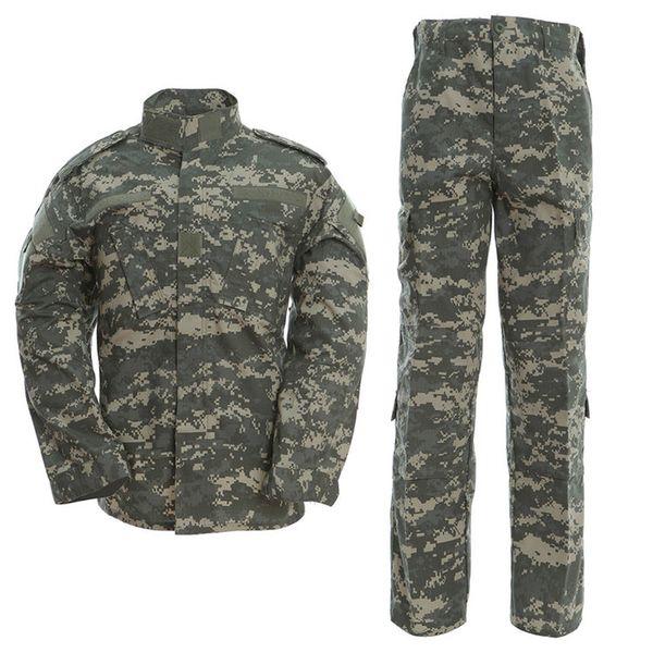 Uniform ACU Camouflage Hunt Tactical Combat Uniform USA Army Men Clothing Hiking Hunting Camouflage Jackets Pants Sets