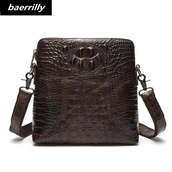 Alligator European style Document file cow leather Men Crocodile Messenger Bag Tote Men's Briefcases Office Men Crossbody Bags