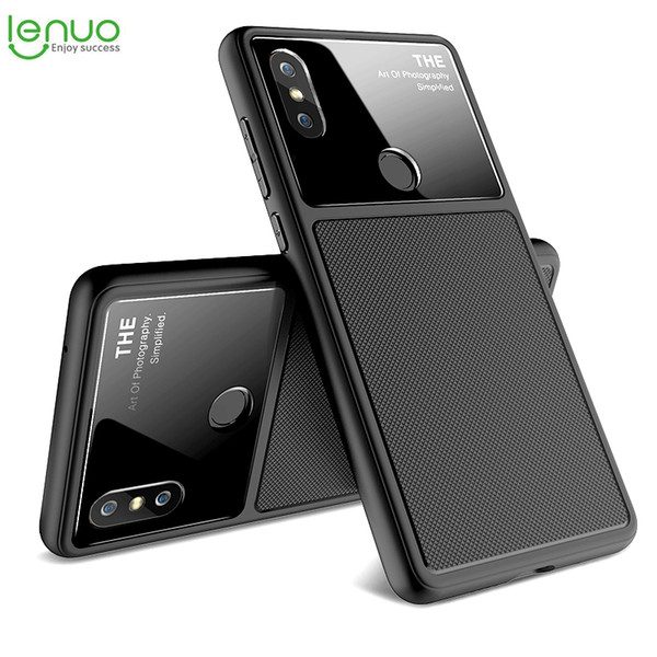 Original Lenuo Glass Lens Case For Xiaomi Mix 2s Case Fundas Tpu Cover  Cases For Xiaomi Mi Mix2s Capa Protective Cover Unique Cell Phone Cases  Cool