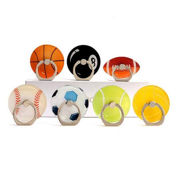 Halka toka cep telefonu tutucu Hediye tutucu Yaratıcı basketbol Futbol Tenis Akrilik tembel braket
