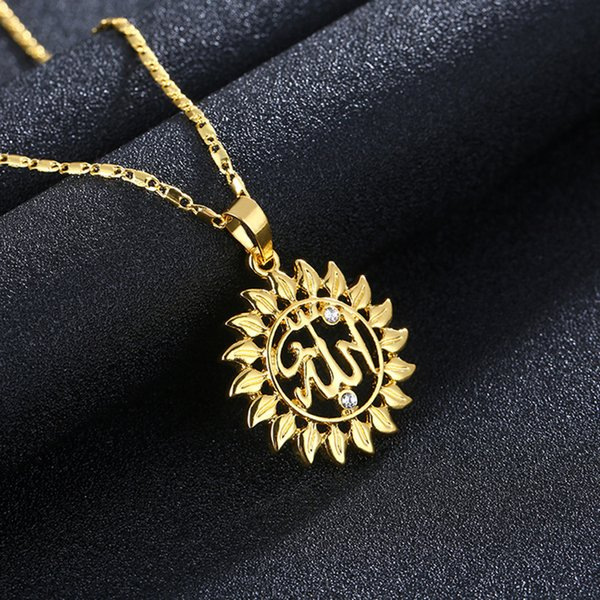 Vogue new product exquisite gold plated circular hollowed totem model diamond / male fashion necklace sweater chain A264#