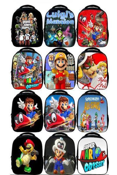2018 Children School Bags Cartoon Doll Super Mario Printing Backpacks For Boys Girls Mario Bros Bag Students Birthdays gta 5