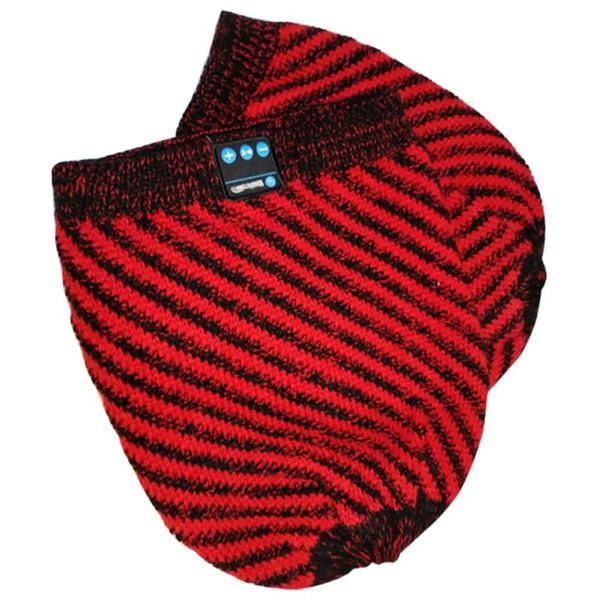 Women Men Winter Warm Soft Beanies Hat Wireless Bluetooth Smart Cap Headset Headphone Speaker Mic 2018 Hot Sale