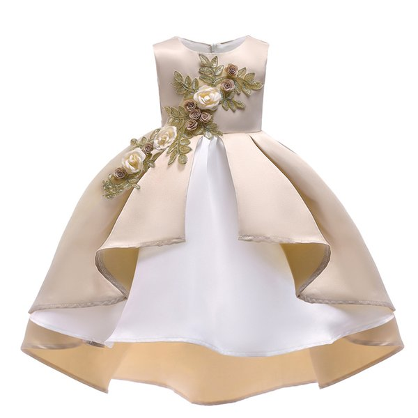 Kleidprinzessin der Kinder kleiden neues flaumiges Blumenkleid des neuen Mädchens des neuen Jahres direktes freies Verschiffen der Fabrik