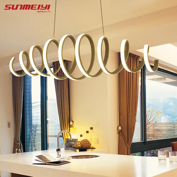 Acquista Moderna Lampada A Sospensione A Led Cucina Sala Da Pranzo ...