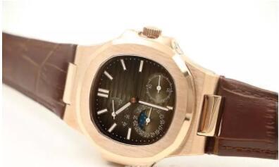 Vendedor caliente Marca de lujo AAA Marca reloj Nueva llegada Nautilus automático mecánico Dial de café banda de cuero transparente Volver reloj