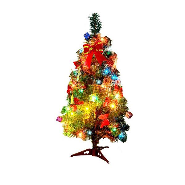 Contemporary Christmas Tree.30 45 60cm Artificial Christmas Tree Bundle With Christmas Ornaments Led Multicolor Lights Navidad Decorations Tree For Home Contemporary Christmas