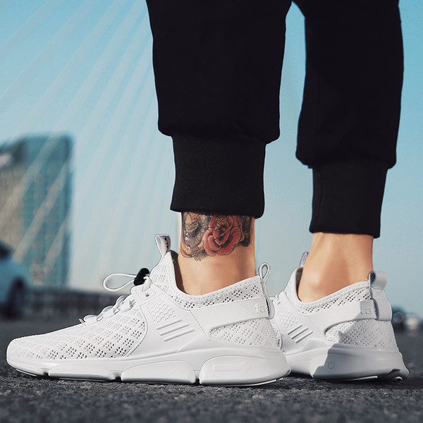 New Fashion Casual Shoe For Men 2018 Weaving Fly Breathable Mesh Black Lover Couple Trainers Sneakers Running shoes