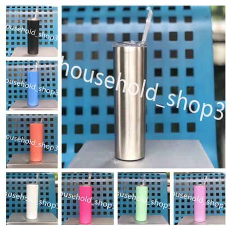 best selling 20 oz skinny Tumbler Car up Double Wall Vacuum Insulated tumblers New arrived Stainless Steel straw slid lid in stock