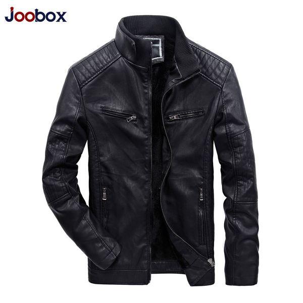Neue Jacken 2018 Thick Cotton Männer Mantel Berühmte Marken Großhandel Lederjacke Windundurchlässige Joobox Beiläufige Leder Kleidung Pu Herren Padded PXukiZ