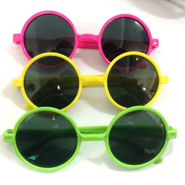 Moda Chicas Niños Gafas de sol Diseñador de la marca Oval Deporte Niños Gafas de sol Bebé Gafas redondas lindas del vintage para los niños 17bc ZZ