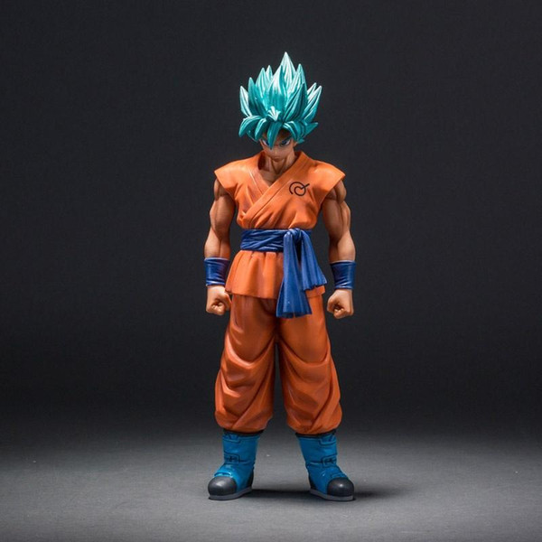2019 Dragon Ball Z Super Saiyan God Son Goku Action Figure Blue
