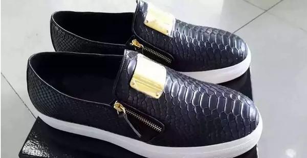 Sıcak satış moda erkekler kadınlar için ayakkabı, siyah hakiki deri rahat ayakkabılar için yüksek, en kaliteli ayakkabı size35-46 chaoliu0031