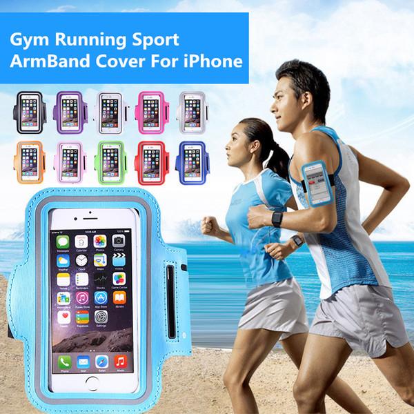 Para iPhone 5 SE 6 6S 7 8 más X Brazalete ajustable proteger Funda para teléfono móvil Brazaletes Gimnasio Correr deporte Arm Band Band