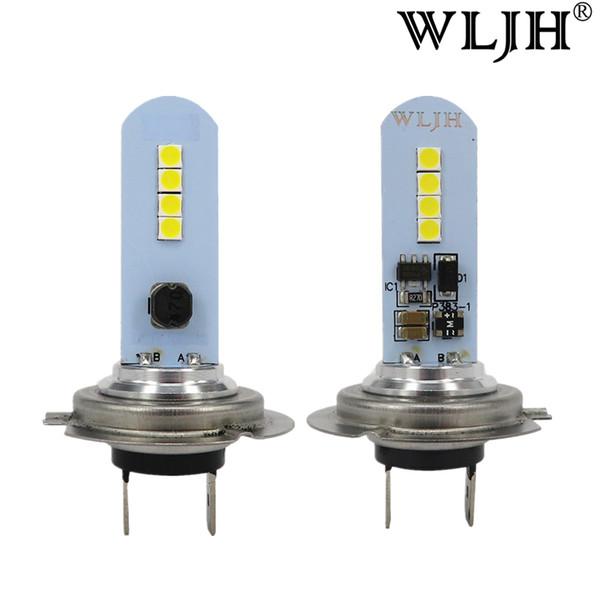 WLJH Car H7 LED Lamp Lights Fog Light Driving Bulb Auto DRL H7 Daytime Light For Acura For Ford For Honda Kia Chevrolet