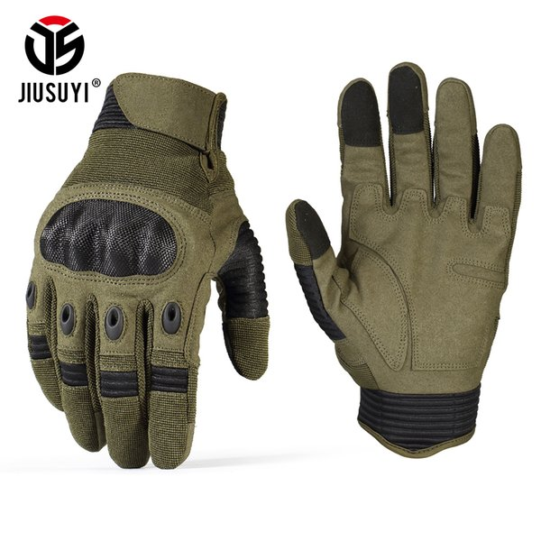 TouchScreen Tactical Gloves Army Paintball Military Shooting Airsoft Combat Anti-Skid Protection Hard Knuckle Full Finger Gloves D18110705