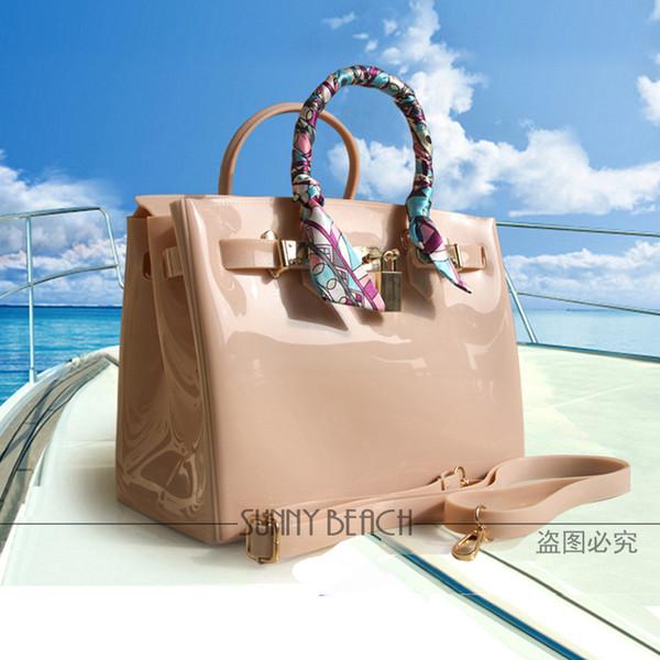 Venda quente mulheres Sacos De Ombro sacos de luxo Saco de Geléia sacos de PVC à prova d 'água saco de praia saco de bolsas
