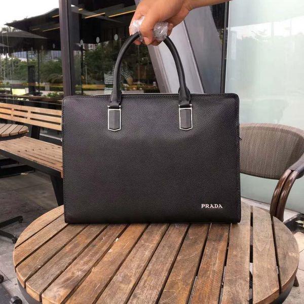 Pink sugao Mens Briefcase Business Bags top genuine Leather Mens Messenger Bag tote famous brand men Crossbody Bag Shoulder bag for work