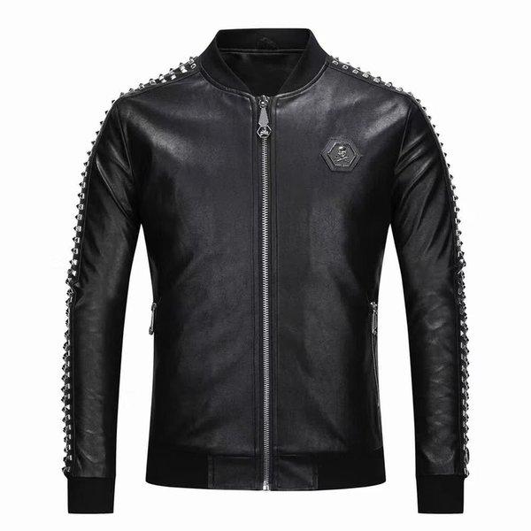 2018 итальянский известный бренд мужской искусственный мех пальто мода пилотный проект импортные pp замша куртка мужская тонкая рубашка M-3XL