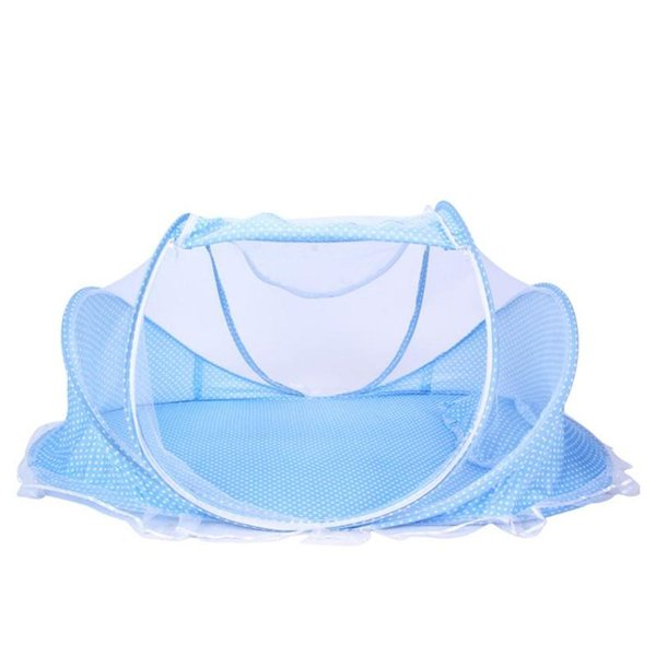 Folding Baby Bedding Crib Netting Tent Portable Baby Music Bed Mosquito Net Mattress Travel Pillow Kit for 0-2T Kids Outdoors