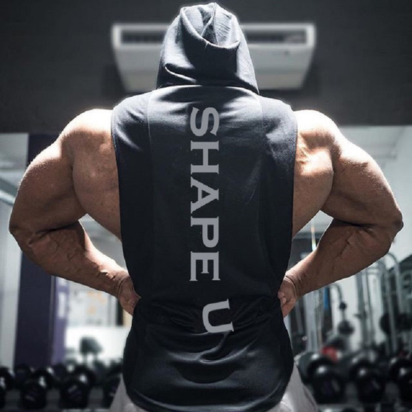 Men's Muscle Fitness Hoodies Tank Tops Hombre sin mangas Casual Gymnasium Active Workout Hooded T-Shirts Chalecos Pullovers