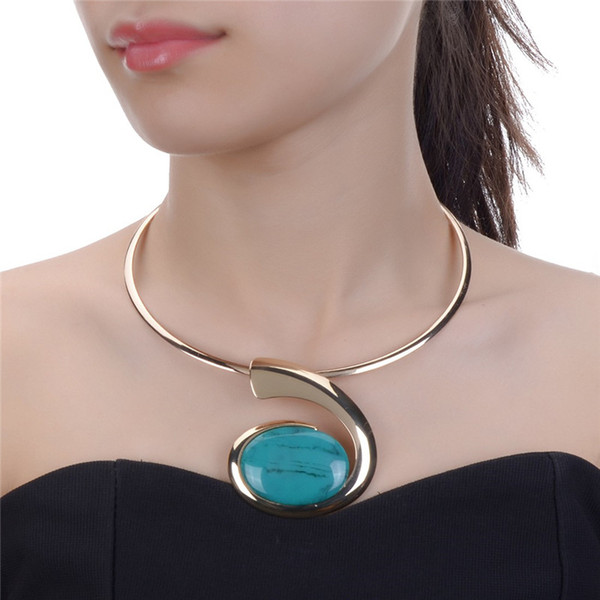 JEROLLI Gargantilla Collares Mujeres Gorgeous Metal Declaración Collar Babero Collar Accesorios de Joyería de Moda