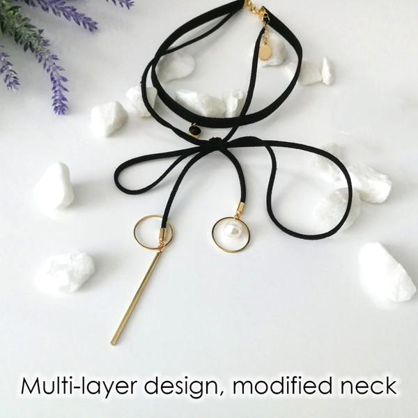 emanco kragen perle choker halskette bowknot sexy kristall leder halskette geschenke für frauen großhandel 2018 neue ankunft