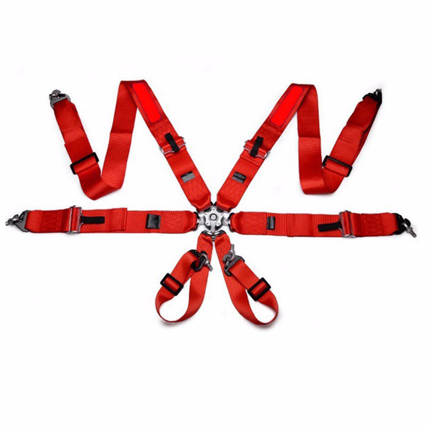 Hot sale New 1 pcs 3'' 6-Point Racing Seat Belt with FIA Approved Expiry 2022 racing harness Safety Harness red SP01