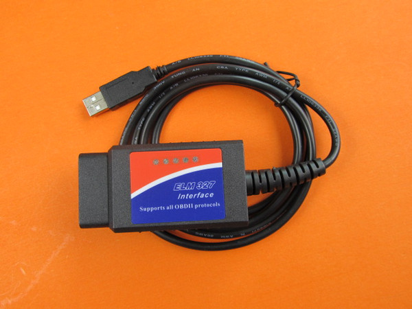outil d'interface obd2 elm327 v 1.5, câble d'interface usb de chine