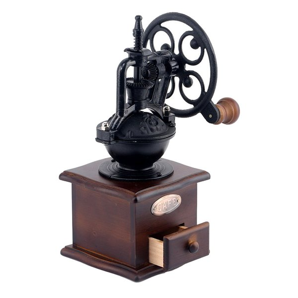 Ferris Wheel Classical Manual Coffee Grinder With Ceramic Movement Retro Wooden Coffee Mill For Hone Office Hand Cafe Grinding