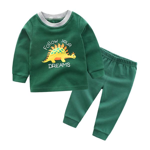 bellezza seleziona per ufficiale come acquistare Acquista Bambini Ragazzi Sleepwear Pigiama Bambini Dinosauro Pigiama Set  Bambino Cartoon Pigiama Abbigliamento Da Notte Autunno Inverno  Abbigliamento ...