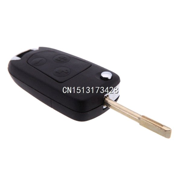 best selling 2015 New Uncut Modify Flip Folding Remote FOB Car Key Case Shell for Ford Focus Mondeo Switchblade 3 Button Replacement