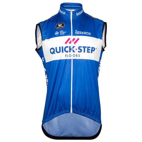 WINDSTOPPER WINDPROOF 2018 ETIXX QUICK STEP PRO TEAM BLUE Q02 ONLY SLEEVELESS VEST CYCLING JERSEY CYCLING WEAR SIZE:XS-4XL