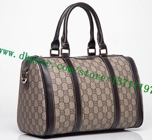 Top Grade Brown Plaid Canvas Coated Real Leather Lady Pillow Bag SPEEEDY 30 N41364 speeedy 25 N41365 Women Top Handle Handbag Cosmetic Pack