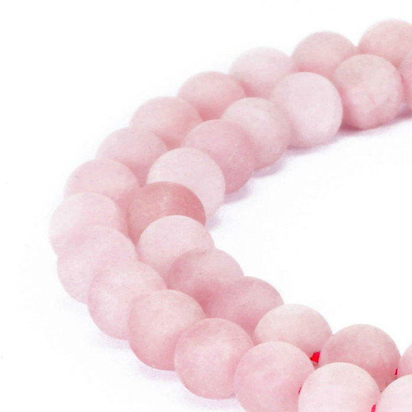 8mm Fctory Price 4mm 6mm 8mm 10mm 12mm natural stone beads Round Gorgeous Matte Rose pink Quartz loose Beads For DIY Jewelry making