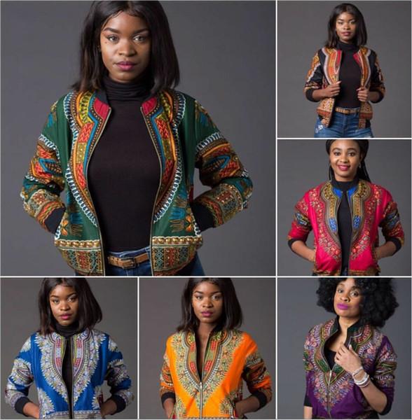 RICHE BAZIN African Tradition Retro veste africaine ethnique dashiki veste imprimée veste zippée