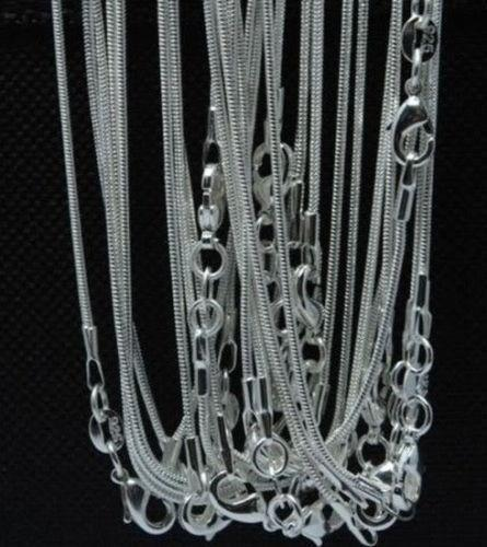 Fine 925 Sterling Silver Necklace,XMAS New 925 Silver Chain 1MM LotS 5Pcs 18-30Inch Necklace For Women Men Fashion Jewelry Link Italy XCc10