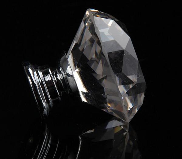 New Arrive Clear Crystal Knob Cabinet Pull Handle Drawer Kitchen Door Wardrobe Hardware