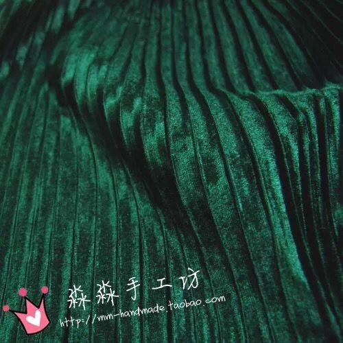 0.5M Pleated Crushed Pleuche Velvet Fabric Cloth For Autumn And Winter Ruffled Fold Dress Skirt Crumpled Silk Velvet Fabric