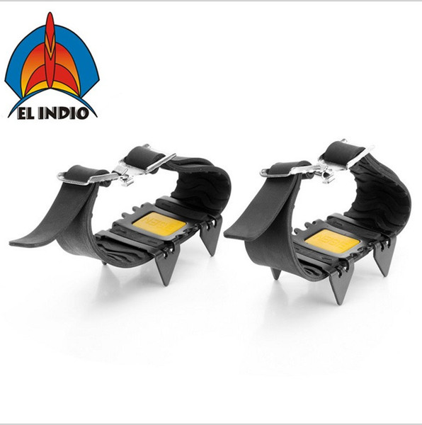 EL INDIO AT8602 Ice Gripper Outdoor Crampons Antiskid Shoe Covers Climbing Claw Hiking Ski