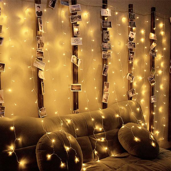 Led Lichterkette Funkeln.Grosshandel 10 Mt 2 Mt Guirlande Lumineuse Fuhrte Funkeln Beleuchtung 640 Led Vorhang Lichterkette Weihnachtsbeleuchtung Outdoor Luces Fuhrte