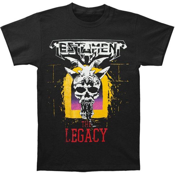 Männer Hohe Qualität Tees Testament Männer Legacy T-shirt Schwarz